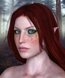 Forest Elf Portrait by Midniyt
