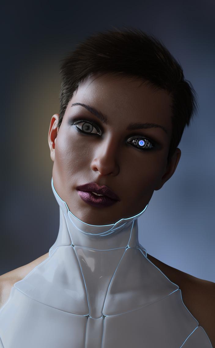 Cyber Pinup III Portrait by Midniyt