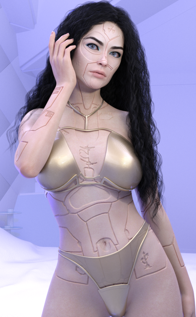 Cyber Pinup IV by Midniyt