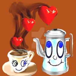 Coffe Love valentines day