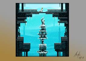 Snow Palace - Pixel Art by Michael-Hansen