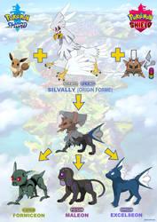 Secret Origins: Silvally + the 3 New Eeveelutions by TEZofAllTrades