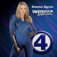Dianna Agron as Fantastic Four's Invisible Woman by TEZofAllTrades