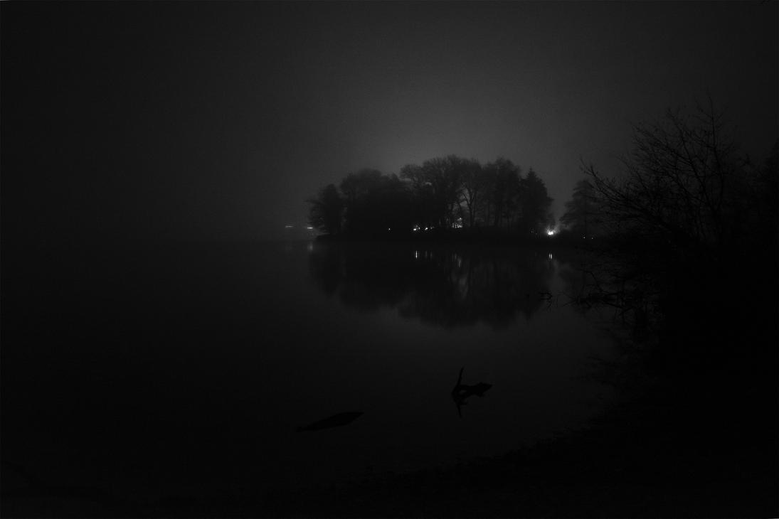 Lights beyond the forest by Jufington