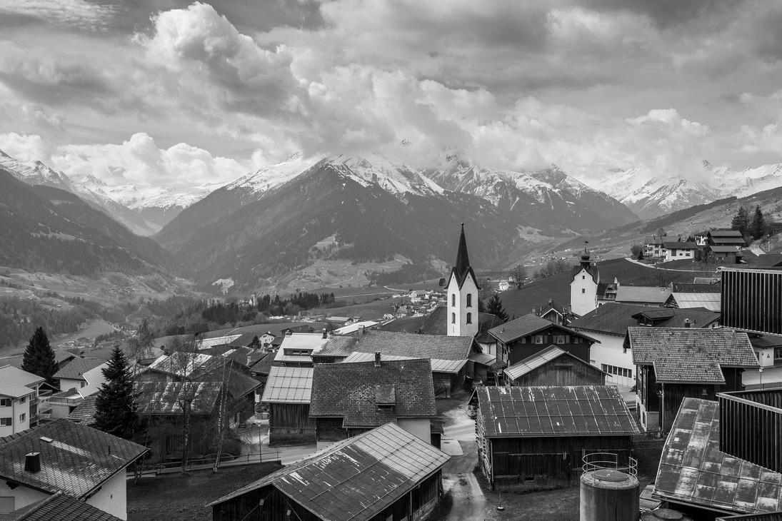 Village in Grischun by Jufington