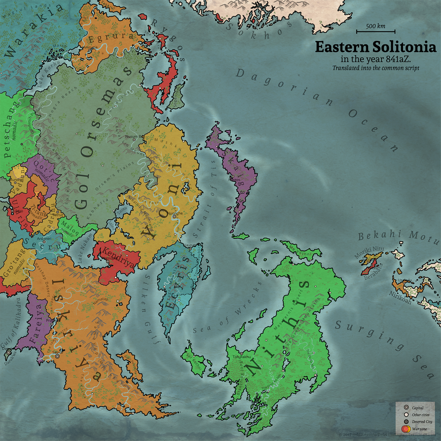Eastern Solitonia Map by Jufington