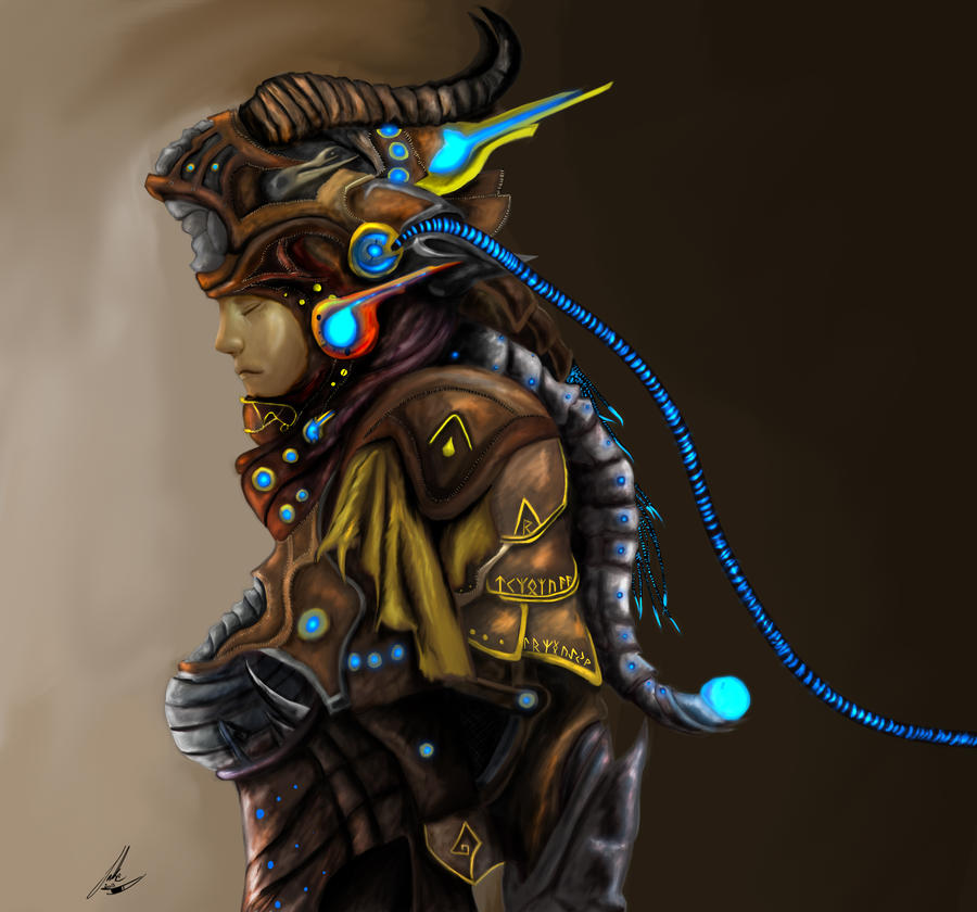 Cyber/Steam punk mixed Lady. by DecryptedDomain