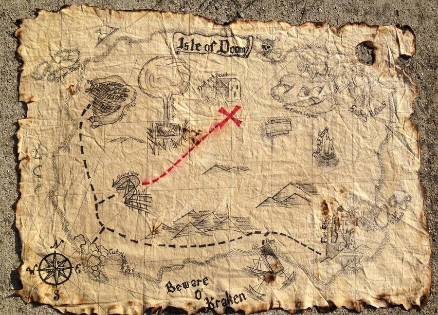 Pirate Map By Abbeydeath On Deviantart
