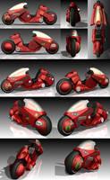 AKIRA Kaneda's Motorcycle by ButtZilla