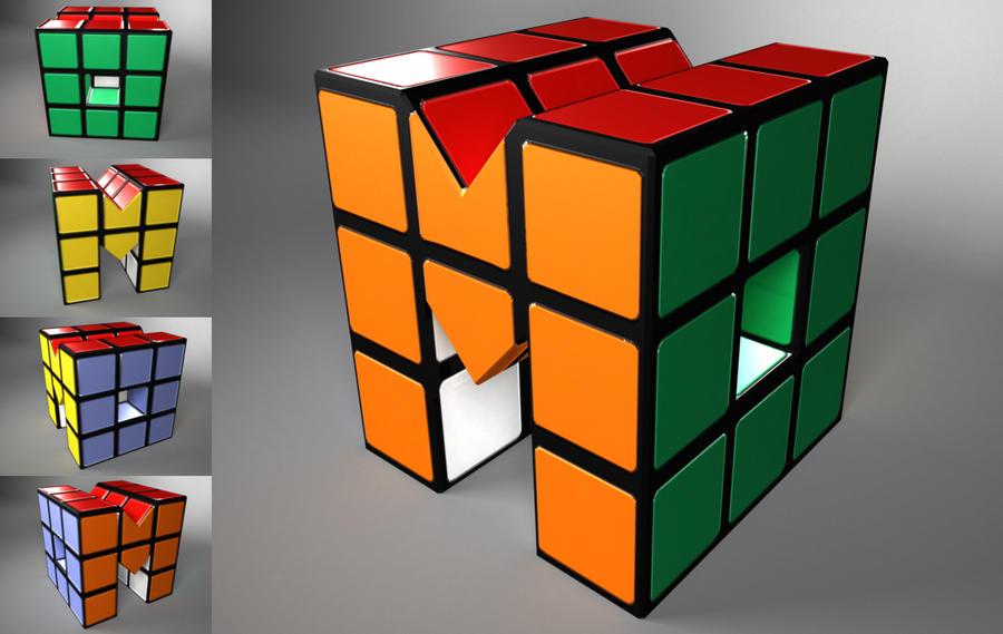 rubix cube logo by buttzilla on deviantart