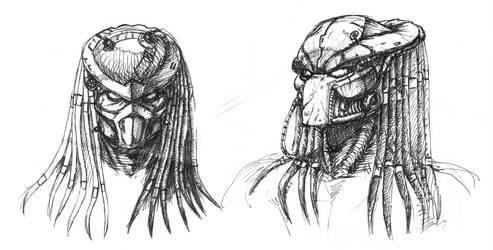 Predator helmet sketches