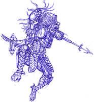 Predator in motion sketch by ButtZilla