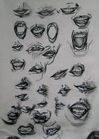 Lips Study by ButtZilla