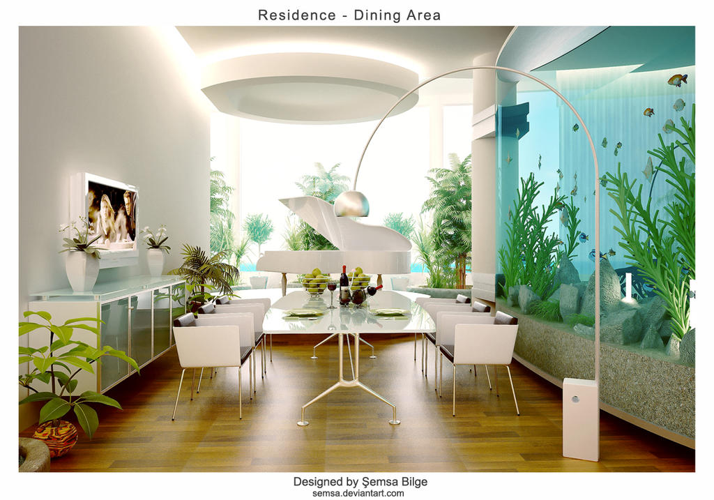 R dining by semsa on deviantart for Beautiful modern dining rooms