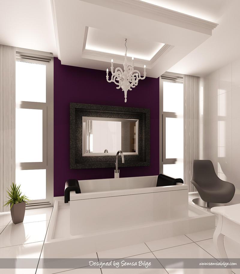 Purple white bathroom 3 by semsa on deviantart - Lavender and white bathroom ...