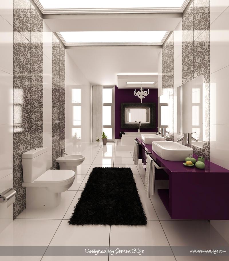 Purple-White Bathroom 2 by Semsa