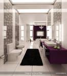 Purple-White Bathroom 2