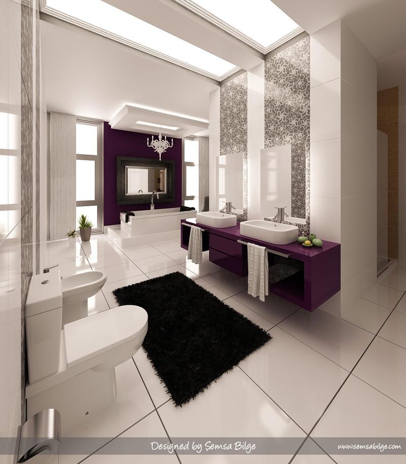 Purple-White Bathroom 1