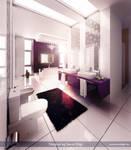 Purple-White Bathroom 1 V3