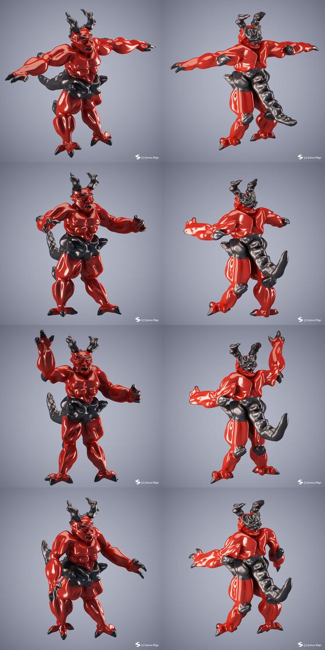 Monster 002 (Red Devil) by Semsa