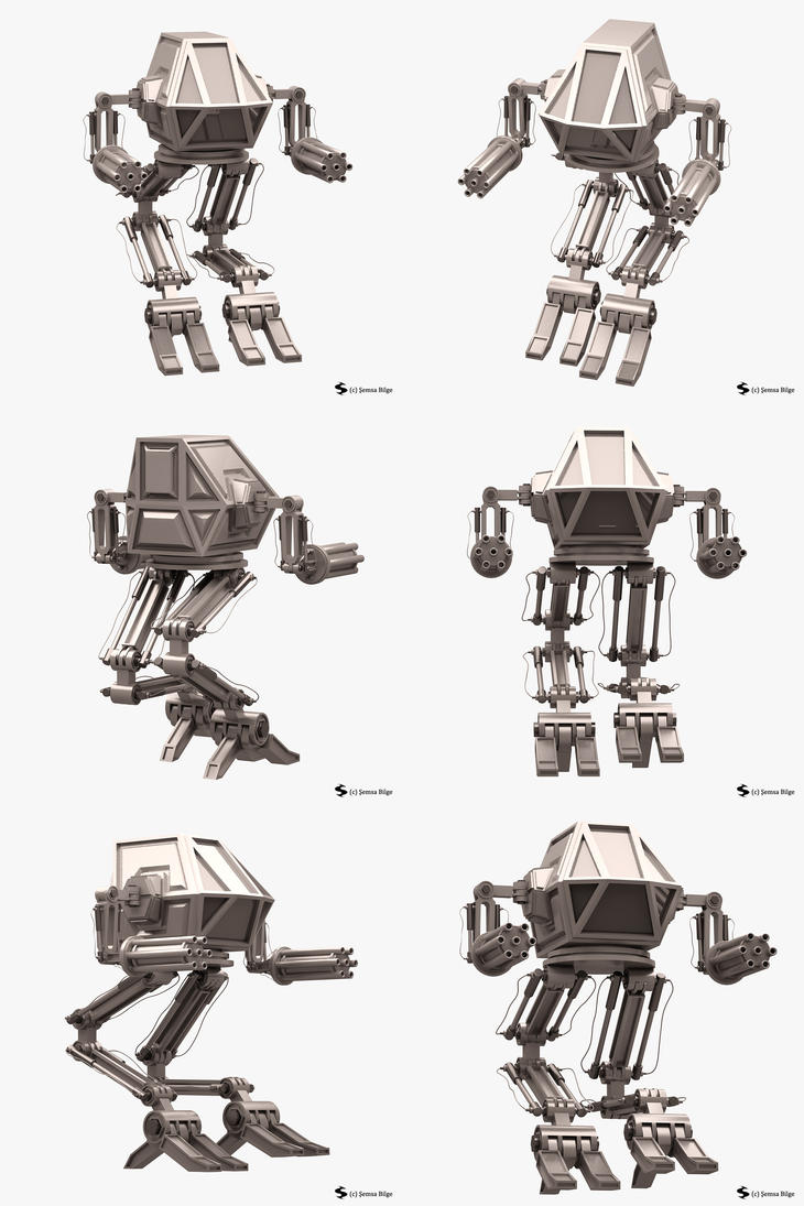 Robot 02 (Mech Warrior) (Rigged) by Semsa
