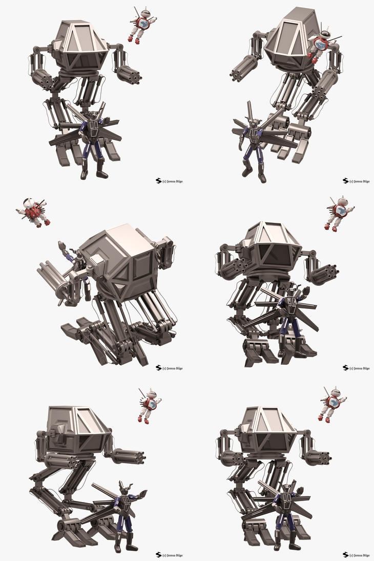 Robot Set (3 ROBOTS) by Semsa
