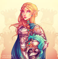 'For Hyrule' Princess Zelda by DeerCub