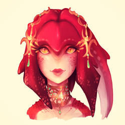 Mipha ad1 by DeerCub