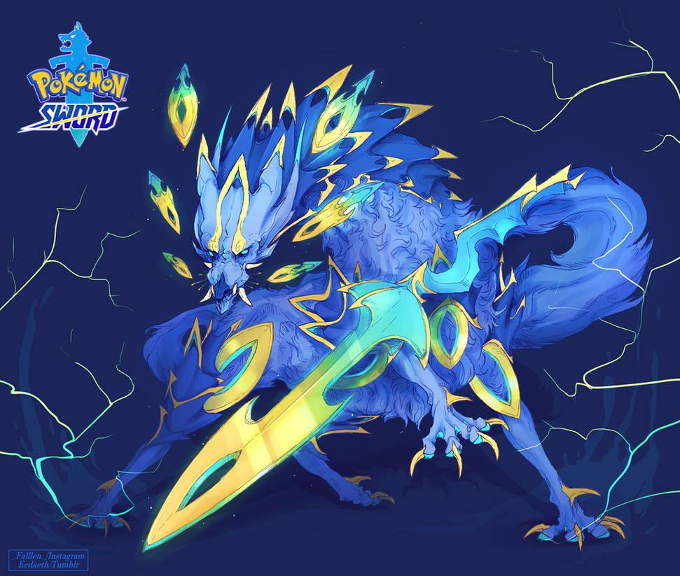 Pokemon Sword Legendary Concept Excalupe By Deercub On Deviantart