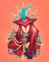 King Sidon [Red bg] by DeerCub