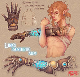 Link's Sheikah Prosthetic Arm [from my last piece]