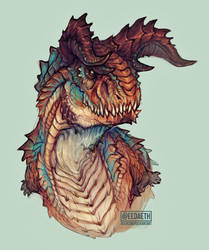 Hypo Carnotaurus doodle by Eedaeth