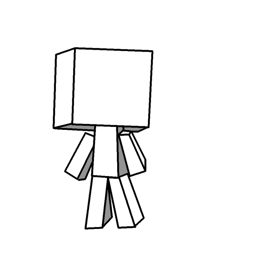 Blank minecraft player drawing by Rotton77 on DeviantArt