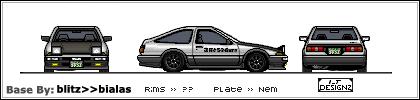 Initial D Toyota AE86 by imprt-tunrz