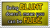 Stamp_Be blunt but not rude by Chivi-chivikStampity