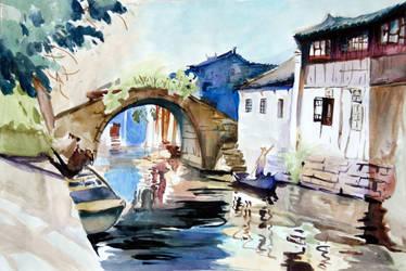 Suzhou Watercolor by XxTariSeregonxX
