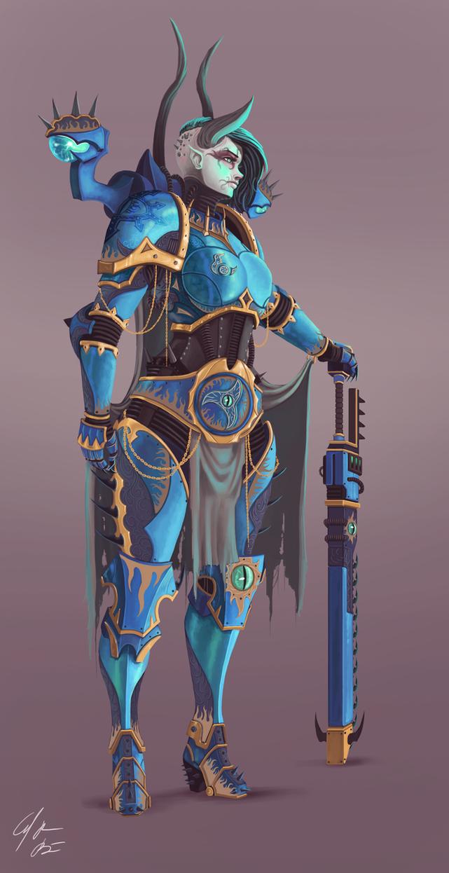 Tzeentch Sorceress Lord by BackmanArts