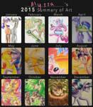 My 2015 Summary of Art by SparkleMongoose