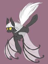Batpony sketch: Noctilucent by SparkleMongoose