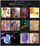 WaterFerret's 2016 Summary of Art by SparkleMongoose