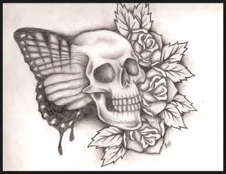 Butterfly Skull by Metalhead99