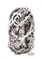 Japanese style Lighthouse by Metalhead99