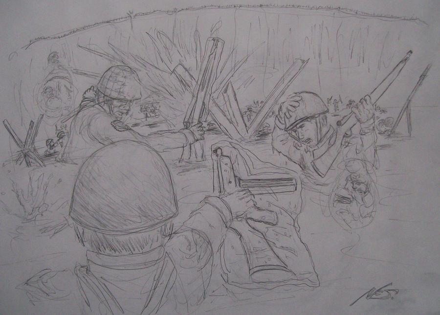 Easy D Line Drawings : D day sketch by holt5 on deviantart