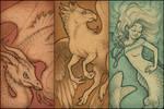 Vintage Mythos pendant designs