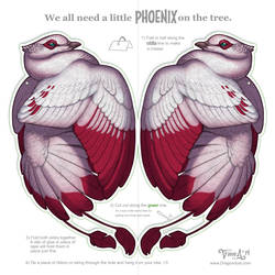 Phoenix for your Tree - ink-saving version by mirroreyesserval