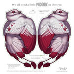 Phoenix for your Tree - ink-saving version