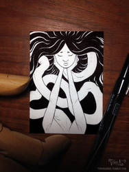 Inktober - Rokurokubi by mirroreyesserval