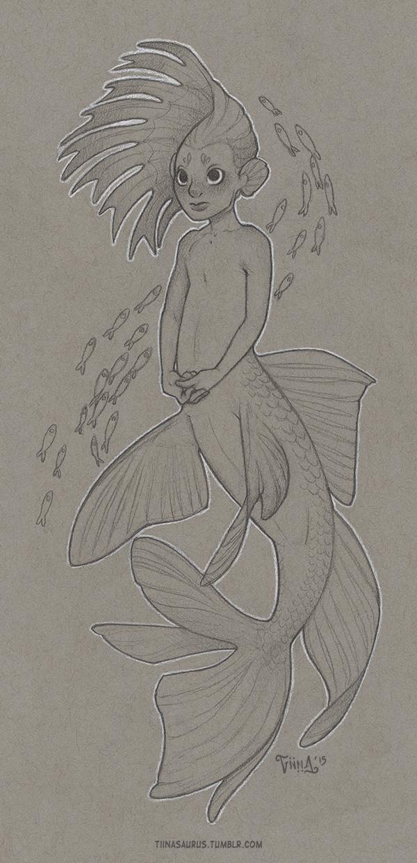 Little Shy Siren by mirroreyesserval