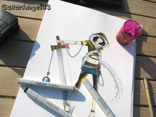 drawing in the sun by GuitarAngel93