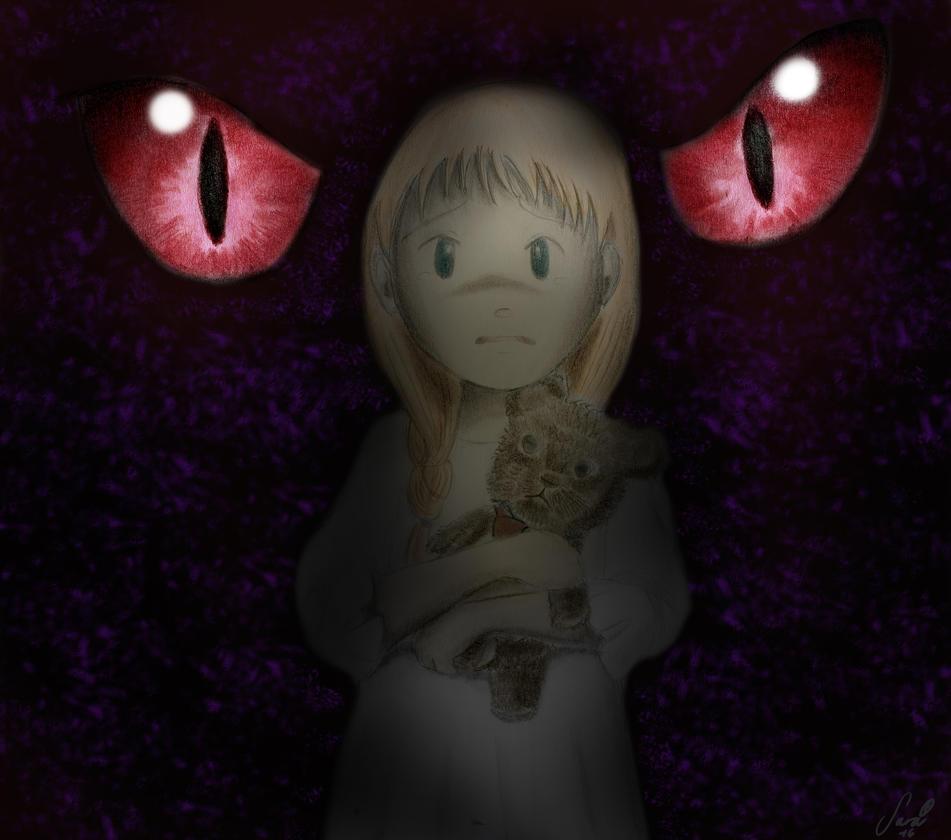 I'm afraid of dark by LittleHime8454